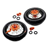 KKE KTM SUPERMOTO WHEELS RIMS SET KIT & TIRE EXC SX XCW XCF 125 250 350 530 3.5/5.0 SUPERMOTO WHEEL SET WITH TIRE & DISC