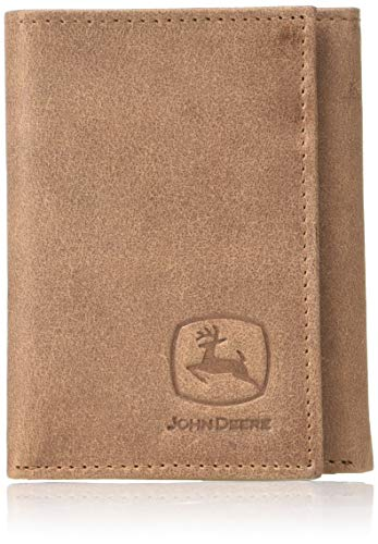- John Deere Unisex-Adult's TRIFOLD WALLET, tan