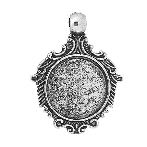 Metal Alloy Charm Pendants | Antique Silver 38Mm X 30Mm 1 (Necklace Finish Gold Medallion)