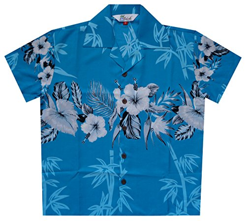 Hawaiian Shirts Boys Bamboo Beach Aloha Party Camp Short Sleeve Holiday Casual