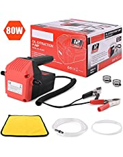 Suteck Oil Change Pump Extractor DC 12V 80W Motor Oil Diesel Quick Extract Transfer Scavenge Suction Pump For Car Boat Motorbike Truck RV ATV and Other Vehicles