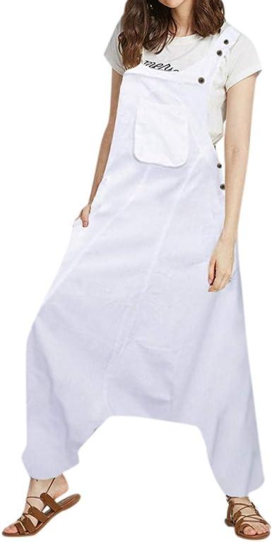 Combinaison Femme Chic pour Soir/éE /à sans Manche /éL/éGant Jumpsuit Rompers Salopettes Larges Combishort Tendance Pantalons Sport