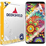 DeltaShield Screen Protector for Samsung Galaxy S9 Plus (2-Pack)(Case Friendly Version) BodyArmor Anti-Bubble Military-Grade Clear TPU Film