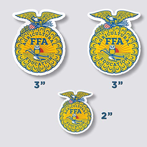 - Set of 3 FFA Emblem Sticker for Laptop Phone Notebook Vinyl Logo Future Farmers of America Decal 3