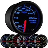 GlowShift Black 7 Color Transmission Temperature Gauge by GlowShift