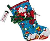 Bucilla 86863 Airplane Santa Stocking Kit