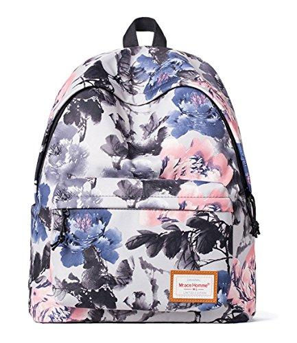 Keshi Dacron Cute College School Laptop Backpack -Straps Reinforced