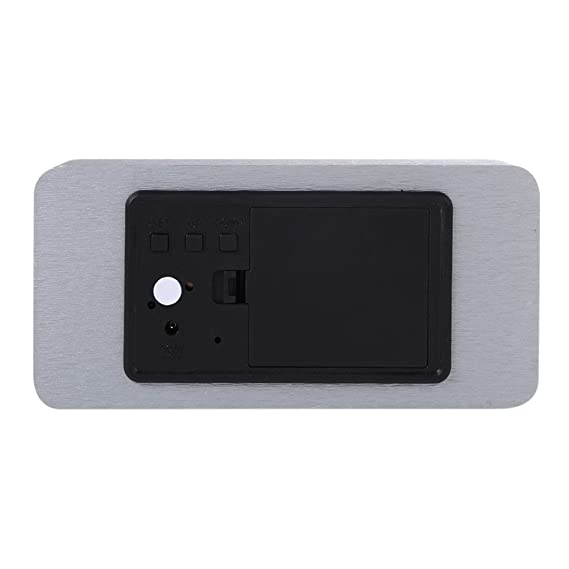 Amazon.com: Reloj Despertador - Silver White Voice Humidity Digital Clock Wooden Electronic Desk Table Led Display Alarm Reloj - Night Mcqueen Proyeccion ...