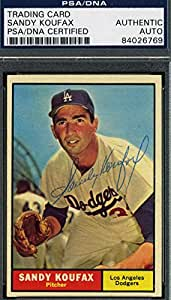 SANDY KOUFAX 1961 TOPPS HAND SIGNED PSA/DNA ORIGINAL AUTHENTIC AUTOGRAPH