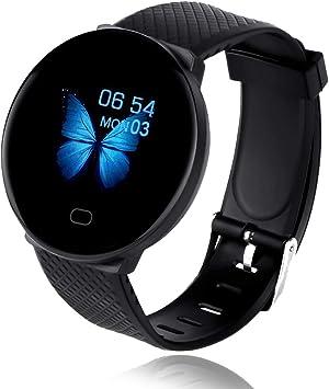 Bluetooth Smart Watch Reloj Inteligente Mujer Hombre Smartwatch Pulsómetro,Cronómetros,Calorías,Monitor de Sueño,Podómetro Pulsera Actividad Inteligente Impermeable Responder Llamadas Android e iOS: Amazon.es: Electrónica