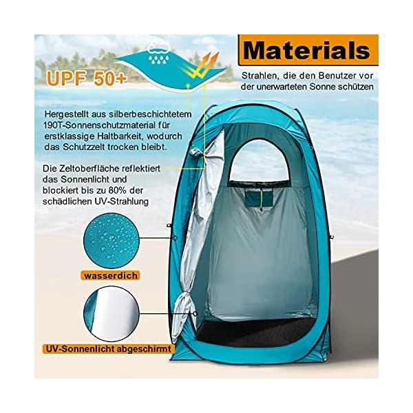 51dvHrEYC5S YUANJ Camping Duschzelt, Pop Up Toilettenzelt Wasserdicht Umkleidezelt, Outdoor Privat Mobile WC Zelt für Camping…