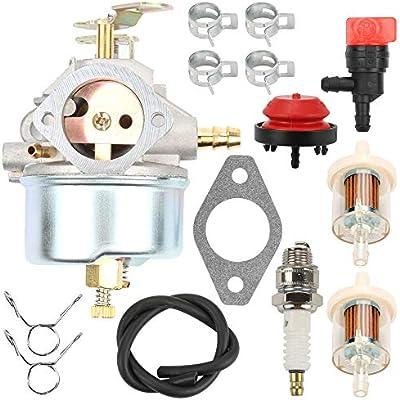 Carburetor With Air filter Kit for Tecumseh 632370A 632370 632110 HM100 HMSK90