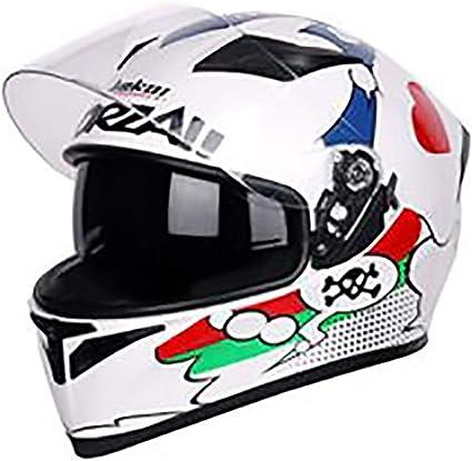 Amazon.es: Casco de moto Casco de bicicleta adulto blanco de ...