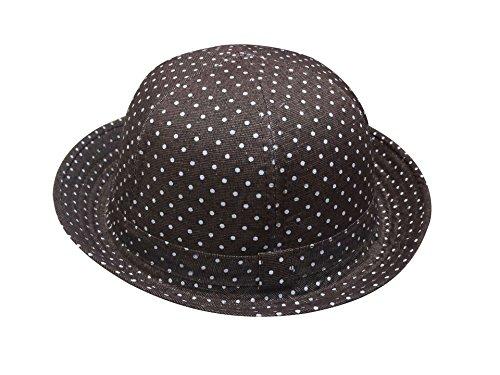 Unisexe Mode Chapeau Acvip Motif Enfant Bonnet Taille Café Unique Rond Voyage Coton Pois En q5wFBz