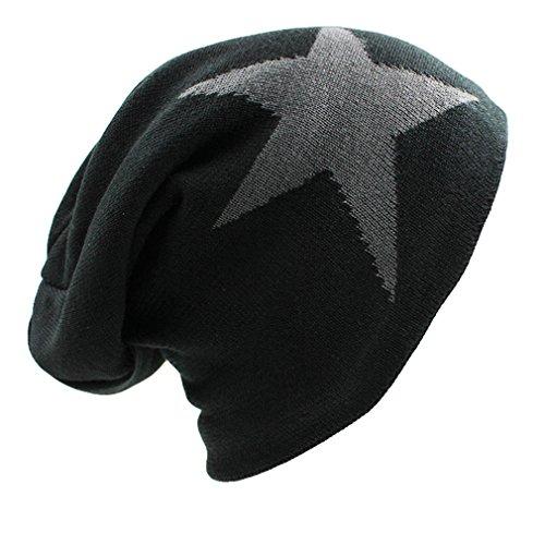 EQKWJ Faux Fur Warm Baggy Knitted Hat Men Beanies Knit Skullies Bonnet Hats Women Beanie Winter Caps -