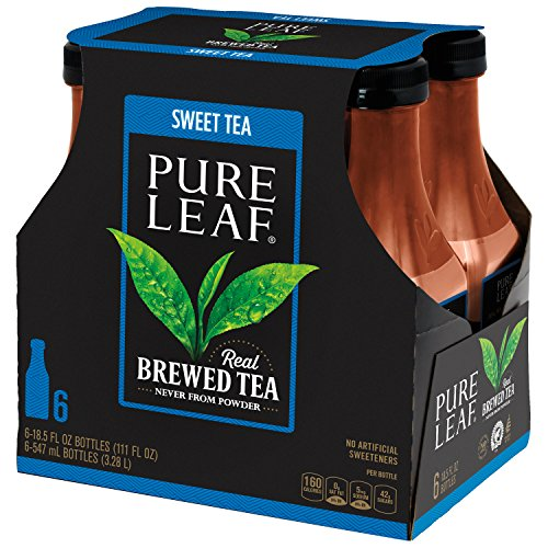 Pure Leaf Iced Tea, Sweet Tea, Real Brewed Black Tea, 18.5 Ounce Bottles (Pack of 6)