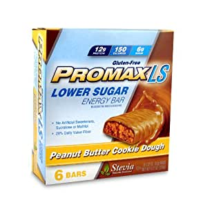 Promax Ls Lower Sugar Protein Bars, Peanut Butter Cookie Dough, 6 Count (Pack of 6)