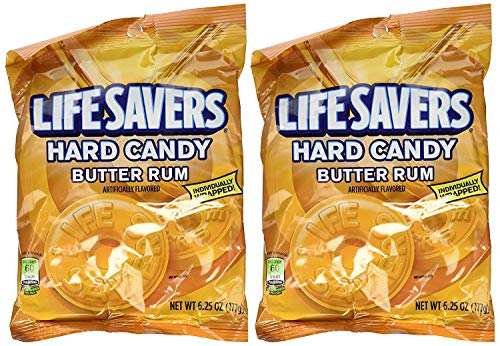 LifeSavers Candy, Individually Wrapped, Butter Rum - 6.25 oz (2 pack)