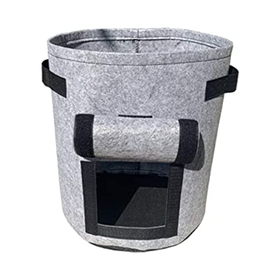 4 Gallon Plant Grow Bags, Fabric Raised Planting Bed Round Garden Grow Bag Planter Pots for Outdoor Plants, Flower, Vegetables Nursery Garden and Planting Grow Gray: Clothing