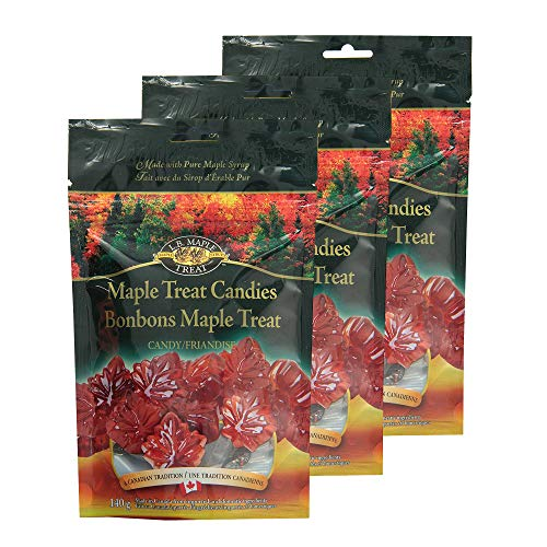 LB Maple Treat Hard Leaf Shaped Pure Sugar Candy/Flavored Candies Made With Real Maple Syrup (3-Pack) 140 Gram 5 -