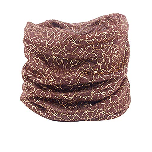 LIULIULIU Women Chiffon Outdoor Gold Wire Print Sunscreen Cowl Neck Scarf Shawl Ring