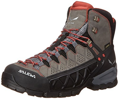 Salewa Womens Alp Flow Mid GTX Boots Charcoal / Indio 7 & E-Tip Glove Bundle oLhew