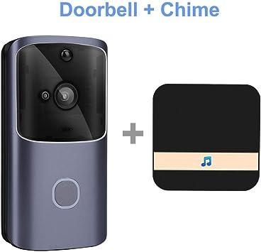 timbre Timbre WIFI teléfono inalámbrico timbre de la cámara cámara video portero 720P HD infrarrojo vista nocturna apartamento Opción1: Amazon.es: Bricolaje y herramientas