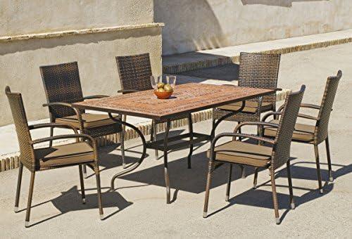 Conjunto jardín silla resina Teide Bergamo –: Amazon.es: Hogar