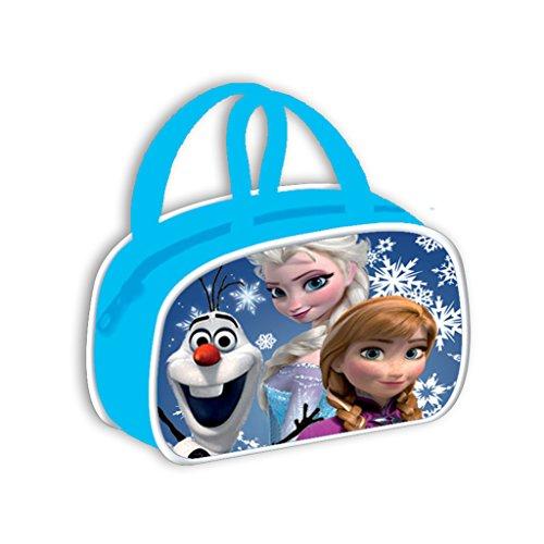 Froze-Borsa a tracolla per bambini, motivo: Elsa, Anna e blu