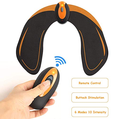 Hips Trainer, EMS Buttocks Massager, Helps to Lift, Shape, Firm Butt Muscle, Electric Stimulation for Body Fitness (with Remote Control)