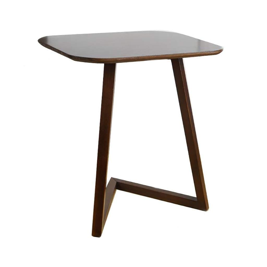 Black walnut Bedside Table Sofa Side Table Simple Computer Desk Movable Small Desk (color   White)