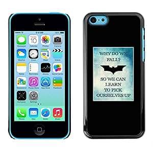 PC/Aluminum Funda Carcasa protectora para Apple Iphone 5C bat pic yourself up poster minimalist / JUSTGO PHONE PROTECTOR