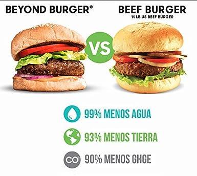 Beyond Meat Burger   Hamburguesa 100% Vegetal   Plant Based   Sin Gluten   Sin Soja   Vegano   2 porciones (227g)