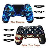 Skins for PS4 Controller – Decals for Playstation 4 Games – Stickers Cover for PS4 Slim Sony Play Station Four Controllers Pro PS4 Accessories PS4 Remote Wireless Dualshock 4 – Flag Daemon 6 Light Bar For Sale