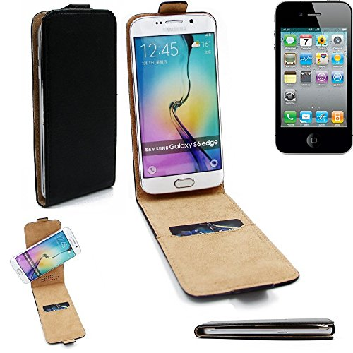 Case Smartphone Cover Flip Style pour Apple iPhone 4s 360°, noir, couvercle rabattable - K-S-Trade (TM)