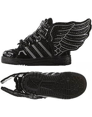 ObyO JS Jeremy Scott Wings 2.0 Mesh S77840 Black/White Infants Kids Shoes