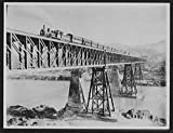 1895 Photo Fortified Northwestern Railway bridge over the Indus at Attock Location: Campbellpore, Indus River, Pakistan