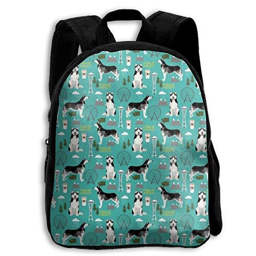Husky Seattle Washington Dog Kids' Preschool And Kindergarten Backpack For Boys And Girls