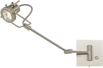 Single Spotlight Steel Swing Arm Wall Lamp
