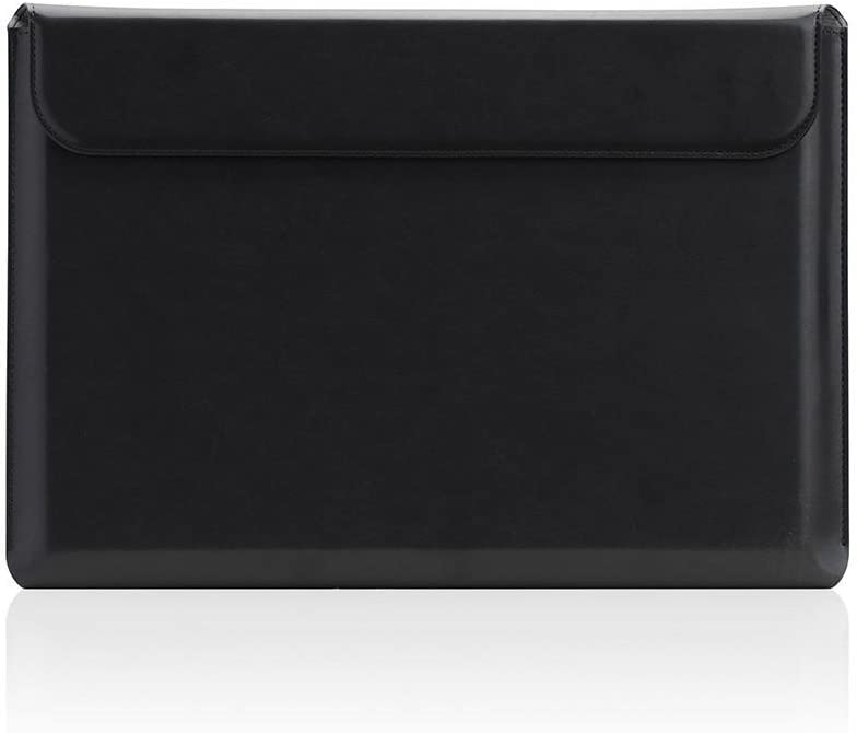 """[SLG DESIGN] D5 Cal Sleeve for MacBook Pro 13"""" I Water Repellent Coating Leather Case Compatible with MacBook A1989, A1706, A1708 / Touch Bar 2019-2016 Release with A1425, A1502 / Retina (Black)"""