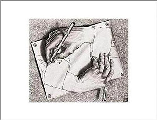 (11x14) M.C. Escher Drawing Hands Art Print (Escher Drawing)