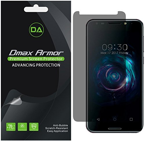 [2-Pack] Dmax Armor for Alcatel A30 Fierce Privacy Anti-Spy Screen Protector Shield - Lifetime Replacements Warranty- Retail Packaging