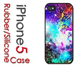 iPhone 5C (New Color Model) Rubber Silicone Case - Galaxy Nebula Colorful Fox Galaxy Stars