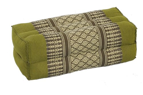 Traditional Thai Pillow : 12-piece Value Pack! Kapok Block Pillow Cushion, Traditional Thai Fabric Bamboogreen