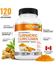 DOUBLE STRENGTH ORGANIC TURMERIC + BLACK PEPPER Capsules! 2 Month Supply! 1300mg! Non-GMO Turmeric Curcumin w Bioperine. Benefits Anti-inflammatory & Anti-Aging. Feel Less Joint Pain in 2 weeks!
