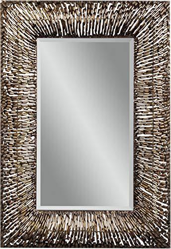 Bassett Mirror Company Belgian Luxe Zola Wall Mirror in Copper