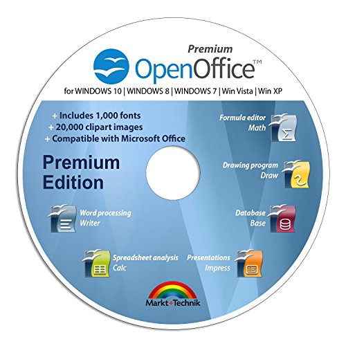 Office Suite 2018 Premium Edition CD DVD 100% compatible with Microsoft® Word® and Excel® for Windows 10-8-7-Vista-XP