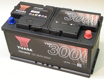 Yuasa YBX3019 Bater/ía de coche SMF Starter recargable 95 AH+DCHA