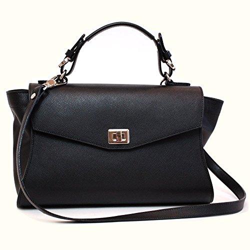 7259d8b7ddc2a Ledertasche damen schwarz groß Saffiano  Amazon.de  Handmade