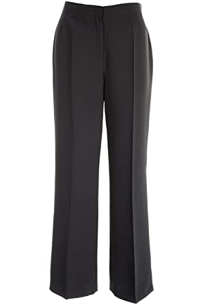 6a396d937 Busy Clothing Women Smart Black Trousers: Amazon.co.uk: Clothing